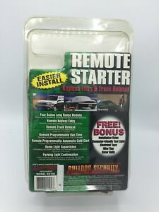 Bulldog Security Remote Starter Key less Entry Trunk Release