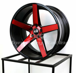 18x8 5 Str 607 Black W Red 5x105 Made For Chevy Cruze Sonic