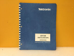 Tektronix 070 4734 00 2213a Oscilloscope Operators Instruction Manual
