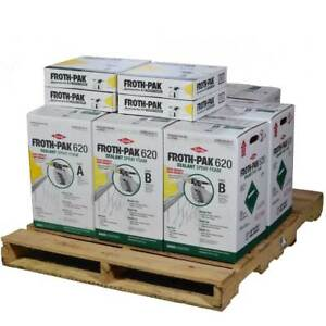 Spray Foam Insulation Kit Dow Froth Pak 620 4 Kits 30 Ft Hoses 2480 Bft