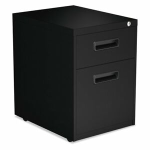 Alera 2 Drawer Metal Handle Pedestal File Cabinet