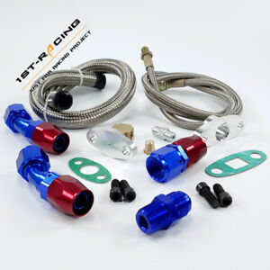 Turbo Oil Feed Line Oil Return Drain Line For T3 T4 T3 t4 T70 T66 To4e T60 T61