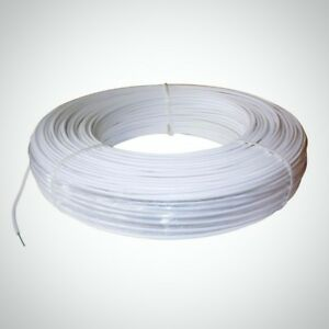 Polyplus 1320 Ft 12 5 gauge White Safety Coated High Tensile Horse Fence Wire