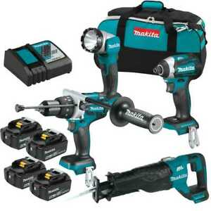 Makita Xt450t x1 18v Lxtli ion Brushless Cordless 4 pc Combo 4 Batt Kit New