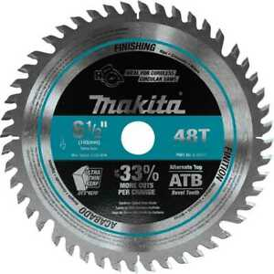 Makita A 99932 6 1 2 48t Carbide tipped Cordless Plunge Cut Track Saw Blade New