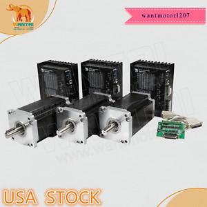 Usa Free Kit 3axis Nema42 Stepper Motor 110bygh150 001 150mm 3256oz in