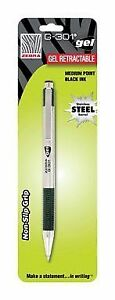 Zebra Gel Pen Retractable 0 7 Mm Black Ink Stainless Steel