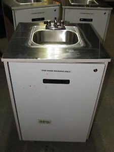 Portable Hand Wash Sink Station With Hot Water Heater Commercial Nsf dent