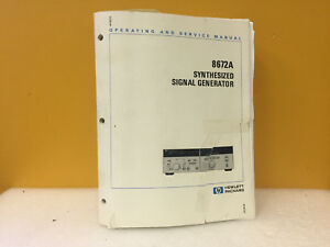 Hp Agilent 8672a Synthesized Signal Generator Operating Service Manual