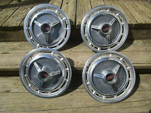 1965 1966 Chevy Impala Ss 67 Chevy Ll Hubcaps Set Of 4