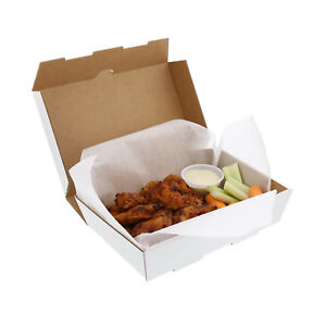 Small White 8 7 8 X 5 7 8 X 2 Corrugated Insulated Take Out Box Case Of 50