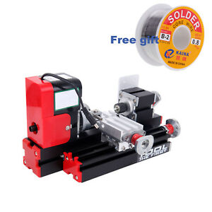 Mini Metal Working Lathe Motorized Machine Diy Tool Metal Woodworking 24w 2a