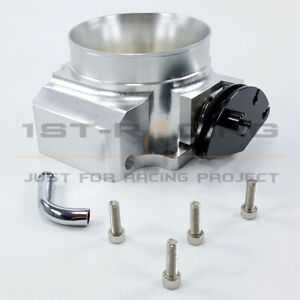 Aluminum 75mm Throttle Body For Ford Mustang Gt Cobra Lx 5 0l V8 Tps Sensor New
