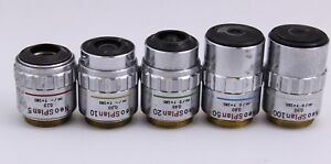 Olympus Neosplan Lot Set 5x 10x 20x 50x 100x Ic Neo Splan Microscope Objective