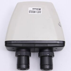 Nikon Alphaphot Microscope Binocular Head 10x Cfwe Eyepieces Labophot Optiphot