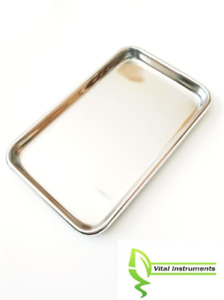 Small Instrument Tray Stainless Steel Tattoo piercing Medical Dental 10 x6