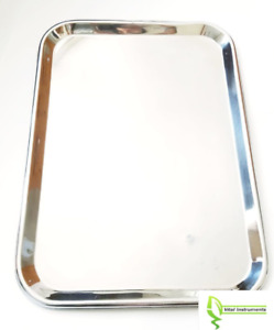 Instrument Tray Stainless Steel Tattoo piercing Medical Dental Serving 18 x12