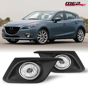 For Mazda 3 14 16 Factory Bumper Oe Fit Fog Lights Dot Wiring Kit Clear Lens