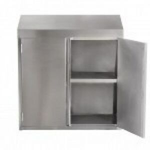 15 x36 x39 h Stainless Steel Commercial Wall Storage Cabinet With Hinged Doors