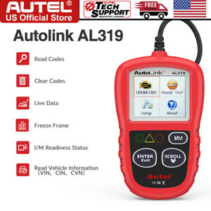 Autel Autolink Al319 Obd2 Can Obdii Auto Car Code Reader Diagnostic Scanner Tool