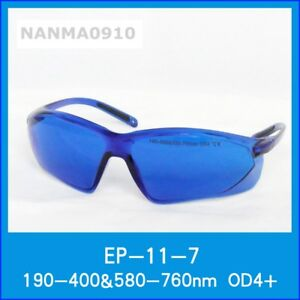 Od4 190 400nm 580 760nm Red Laser Protective Goggles Safety Glasses Eyewear Ce