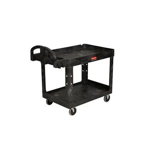 Commercial Utility Cart Wheels Rolling Push Dolly Storage Hand Trolley Plastic
