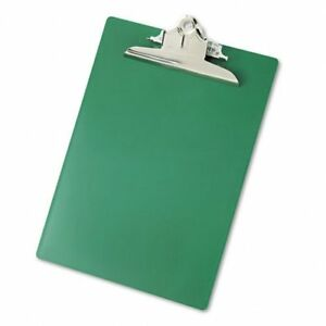 Saunders Recycled Plastic Clipboard 1 Capacity Holds 8 1 2 X 12 Green case