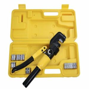 Hydraulic Wire Crimper Terminal Tool Heavy Duty Large Kit Electrical Cable Lug