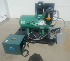 Speedaire Air Compressor 3 4 Hp 30 Gallon 3 Phase W Auto Dryer Linebacker