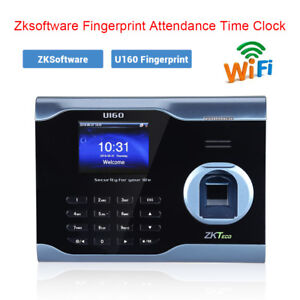 Zksoftware U160 3 Fingerprint Attendance Time Clock Recorder Tcp ip Wifi