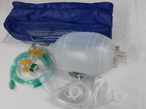 Ambu Bag Adult Silicon Manual Resuscitator Oxygen Tube Mask cpr First Aid Kit
