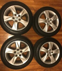 Acura Tsx Oem Factory Rims Wheels 17x7 5 With Continental Dws Tires 225 50 17