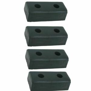 Loading Dock Bumper 4 pack 10 High Rubber Warehouse Truck Trailer Boat