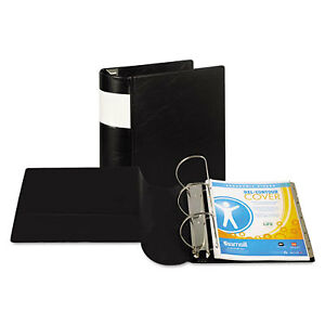 Dxl Heavy duty Locking D ring Binder With Label Holder 5 Cap Black