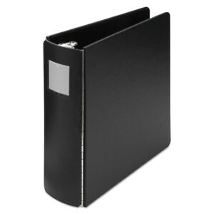 Casebound Round Ring Binder 3 Cap Black