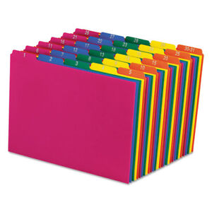 Pendaflex Top Tab File Guides Daily 1 31 1 5 Tab Polypropylene Letter 31 s