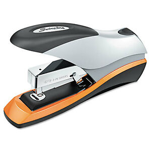 Swingline Optima Desktop Staplers Half Strip 70 sheet Capacity Silver black