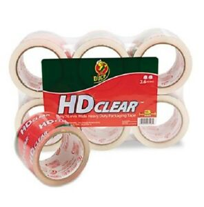 Duck Heavy duty Carton Packaging Tape 3 X 55yds Clear 6 pack