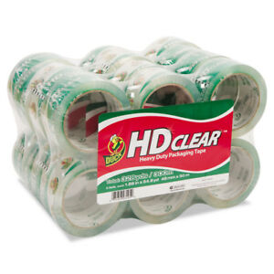 Duck Heavy duty Carton Packaging Tape 1 88 X 55yds Clear 24 pack