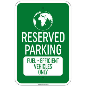 Reserved Parking Electric Vehicles Only 8 x12 Aluminum Sign
