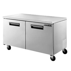 Maxx Cold 61 W Two Solid Door Commercial Undercounter Stainless Steel Freezer