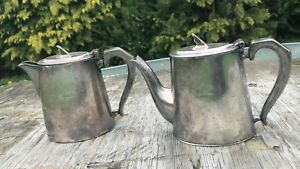 A Pair Of Vintage Gladwin Ltd Sheffield E P N S Hard Soldered Silver Plateteapot