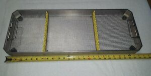 Aesculap Sterilization Tray Stainless Basket Perforated Jf232r