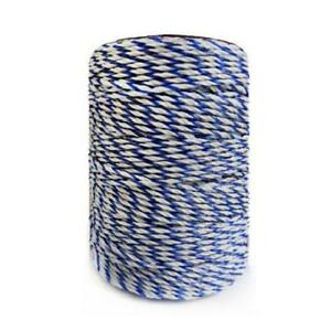White Blue Electric Fence Wire Polywire With Steel Wire Poly Rope For Horse Fenc