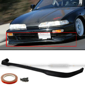 Fit 90 91 Acura Integra Da Da6 Type R Style Pu Front Bumper Lip Spoiler Body Kit