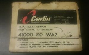 Carlin Electronic Ignitor Used W Wayne E Burners Part 41000 s0 wa2