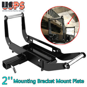 2 Winch Cradle Mounting Bracket Mount Plate Fit For Truck Trailer Atv 4wd Us