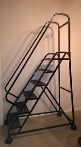 6 Step Rolling Cotterman Ladder