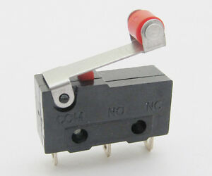 1000pcs Mini Micro Switch Roller Lever Limit Switch Normal Open close 5a 20x10mm