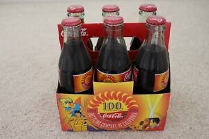 Coca Cola 100th Anniversary California Bottling 6 pack 8oz Bottles NEW Unopened